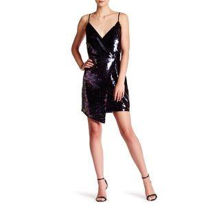 Adeline Rae Multicolored Sequin Wrap Dress
